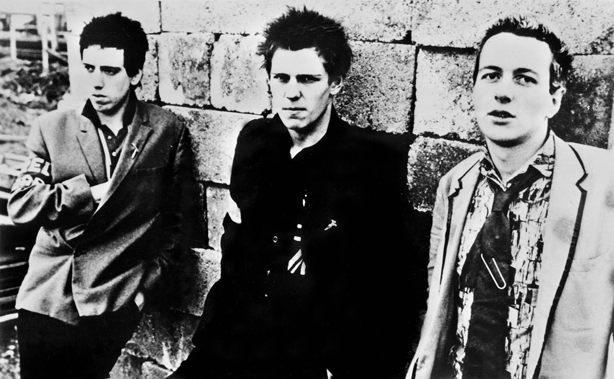The Clash, 1978. Joe Strummer, Mick Jones, Paul Simonon. Getty Images